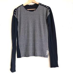Burberry Brit striped long sleeved shirt navy blue